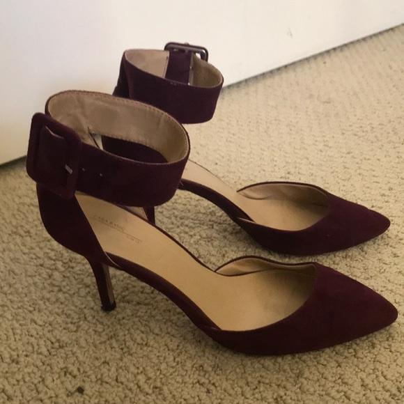 Zara Shoes - Zara burgundy size 38 suede heel